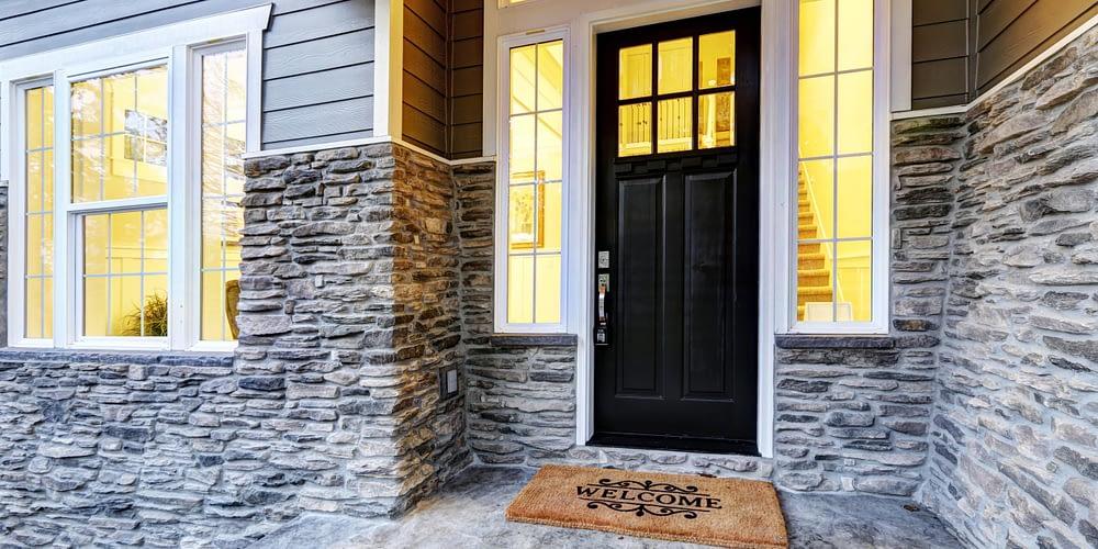 Black Exterior Door